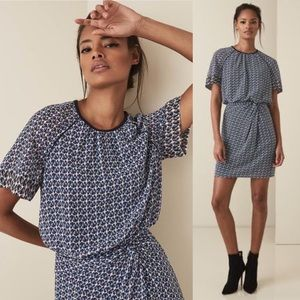 Reiss Heidi Diamond Print Dress